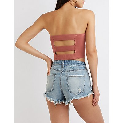 Strappy Back Crop Top