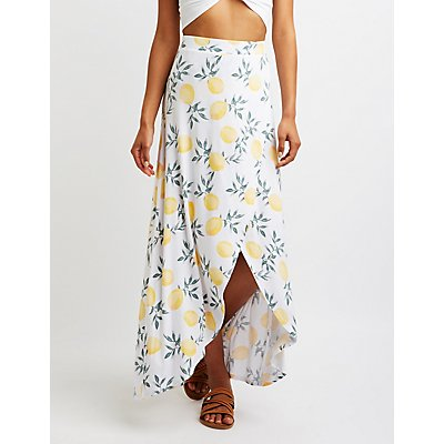 Lemon Wrap Maxi Skirt