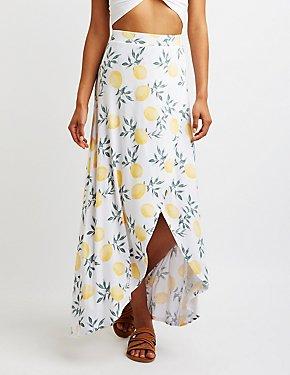 Lemon Wrap Maxi Skirt