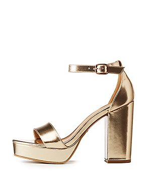a290468f16c Bamboo Metallic Ankle Strap Platform Sandals
