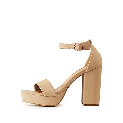 Bamboo Ankle Strap Platform Sandals