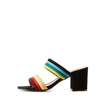 Bamboo Colorblock Sandals
