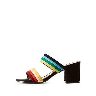 Bamboo Colorblock Sandals