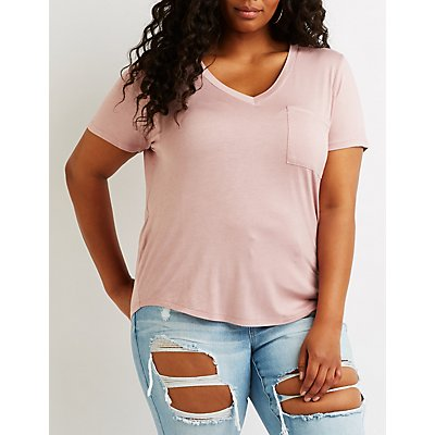 Plus Size Boyfriend Pocket Tee