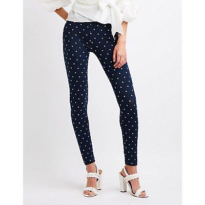 Polka Dot Hi-Waist Leggings