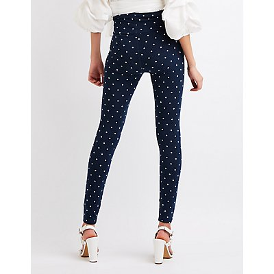 Polka Dot Hi-Waist Leggings