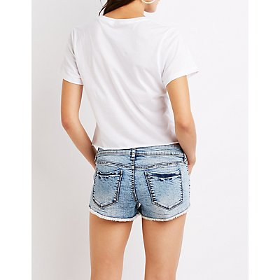 Refuge Destroyed Super Shortie Shorts