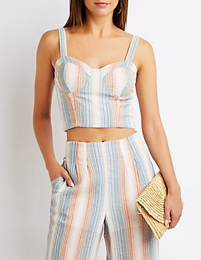 Striped Crop Tank Top