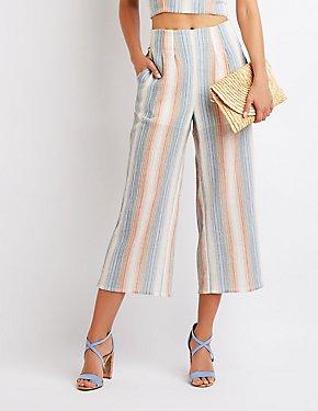 Striped Woven Culottes
