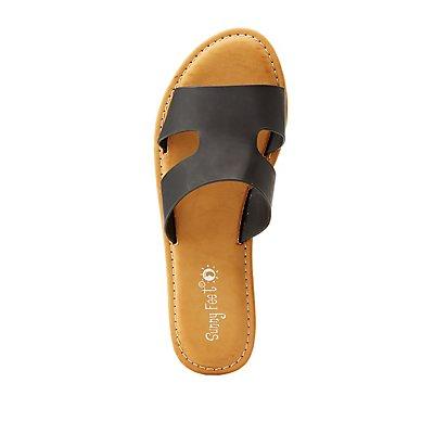 Cut Out Slide Sandals