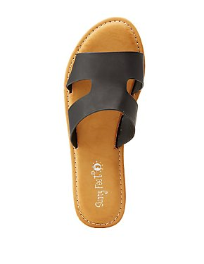 Cut Out Slide Sandals