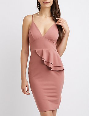 Ruffle-Trim Bodycon