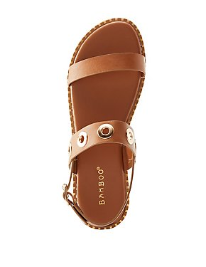 Bamboo Grommet Band Sandals