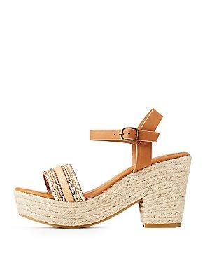 Bamboo Embellished Espadrille Sandals