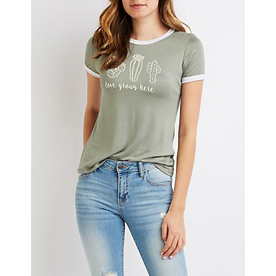 Love Grows Here Ringer Tee