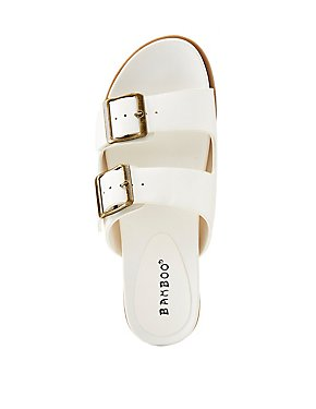 Bamboo Buckle Band Slide Sandals
