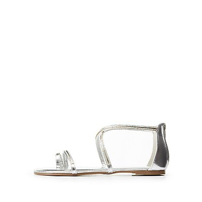 Bamboo Crystal Flat Sandals