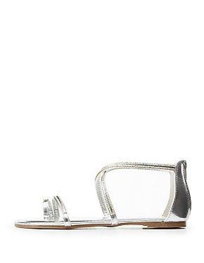 Bamboo Crystal Flat Sandals