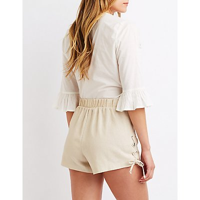 Lace Up Detail Shorts