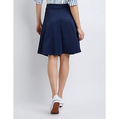 Scuba Midi Skater Skirt