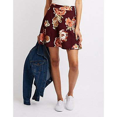 Floral Skater Skirt
