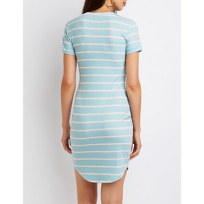 Striped T-Shirt Bodycon Dress