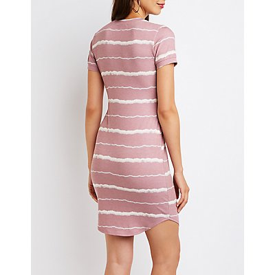 Striped T-Shirt Bodycon Dress