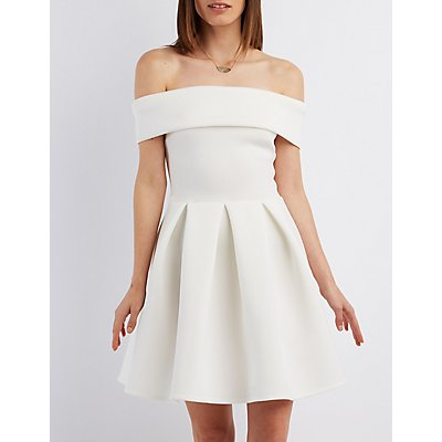 Off The Shoulder Dresses Black White Amp More Charlotte