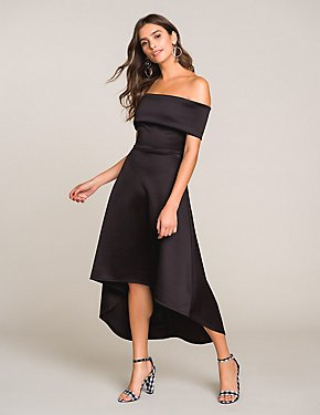 Off-The-Shoulder High-Low Dress