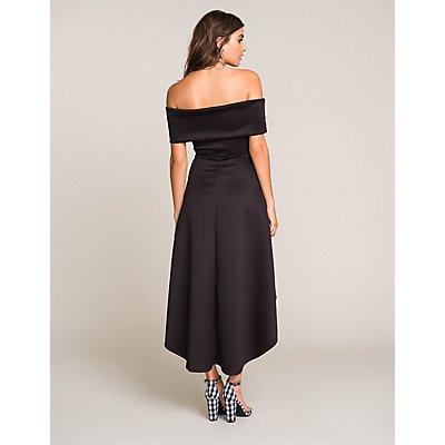 Off The Shoulder High Low Dress