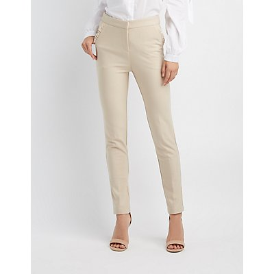 Ruffle Skinny Trousers