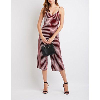Striped Wide-Leg Jumpsuit
