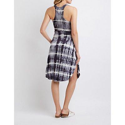 Tie-Dye Wrap Tie Dress