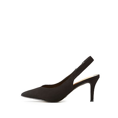 Bamboo Pointed Toe Slingback Pumps