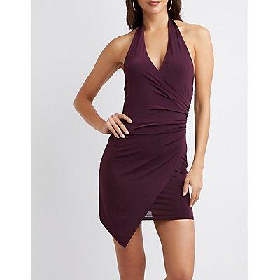 Halter Wrap Bodycon Dress