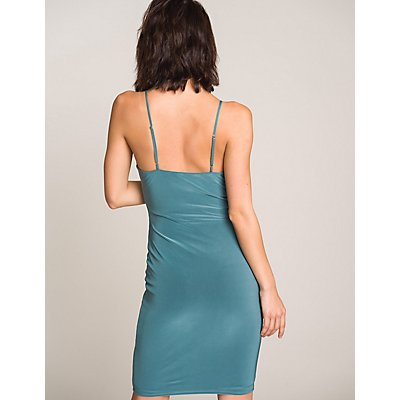 Twist-Front Bodycon Dress