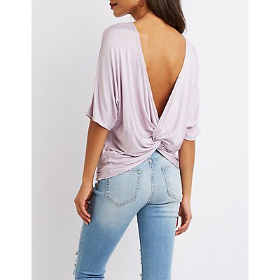 Twisted-Back Detailed Top