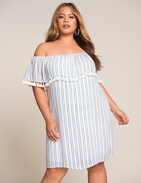 Plus Size Off The Shoulder Shift Dress Charlotte Russe
