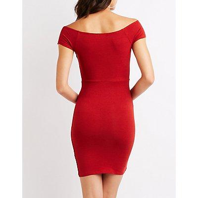Off The Shoulder Wrap Dress
