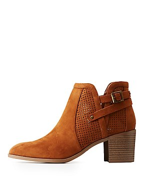 Perforated Belted Booties
