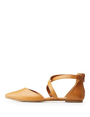 Crisscross Pointed Flat Sandals