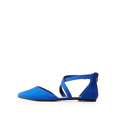 Crisscross Pointed Flats | Tuggl