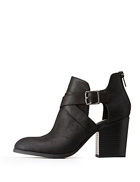 Wrap Cut Out Booties