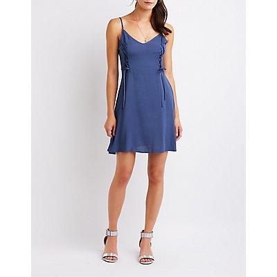 Lattice Skater Dress