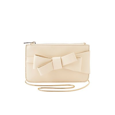 Bow Trim Crossbody Bag