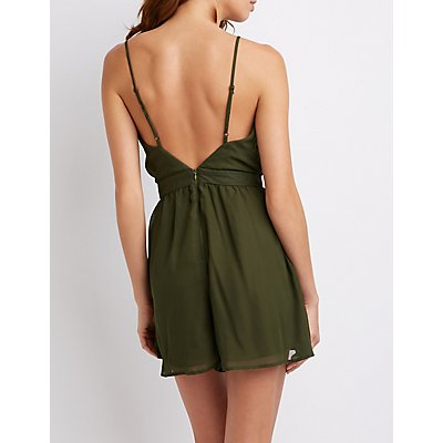 V-Neck Wrap Romper