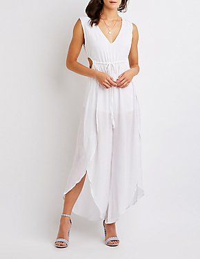 Open Back Split Leg Jumpsuit