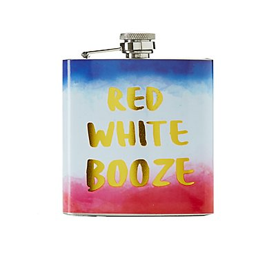 Red, White & Booze Flask