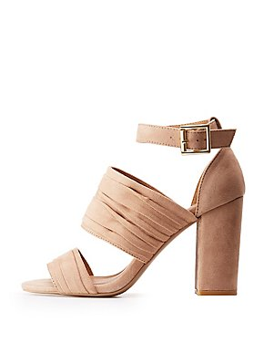 Ruched Ankle Wrap Sandals