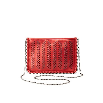 Woven Chain Link Crossbody